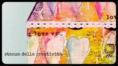 mixed media art whit TCW stencil   --Nicoletta Zanella