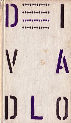 Cuberta. Encadernación, gardas, tipografía e cuberta de Zdenek Seydl. Checoslovaquia, 1964.