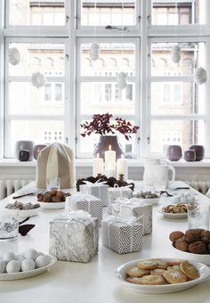 Nordic christmas gift wrapping inspiration.