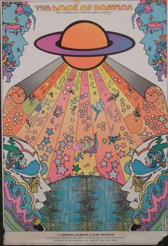 """Max did this fantastic poster for the release of a book titled """"The Book of Posters,"""" by Norman Laliberte and Alex Mogelon. Artist: Peter MaxYear: C. 1970'sMedium: Poster print on paper size: 36 x 24 inches. Condition: Very good; some minor edge wear, creases, stains, corner tearsBiography:Peter Max (1937-__) was born in Berlin, grew up in China, and traveled with his family to Israel and throughout Europe before eventually arriving in America. He began painting, and soon rose to ..."""