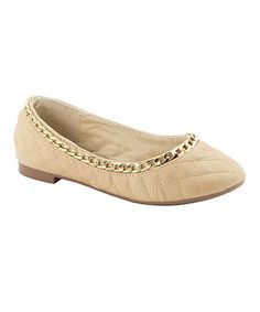 Look what I found on #zulily! Tan Chain Dana Flat by Anna Shoes #zulilyfinds $13.99