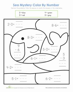 Animal Color by Numbers  Simple Math Edition Printable  The Printable Lab