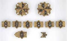 andalusian 15th c. Horse Bridle or Belt Ornaments