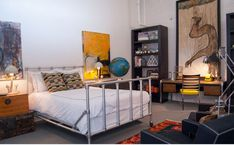 Beautiful Industrial Bedroom Decor With Pipe Bed Frame Steel Leg fresh gallery home design from detail page, glubdubs. Bedroom-design : Beautiful Industrial Bedroom Decor With Pipe Bed Frame Steel Leg available Resolution : Pixel. Cama Industrial, French Industrial Decor, Industrial Bedroom Design, Industrial Interiors, Industrial Apartment, Urban Industrial, Industrial Style, Industrial Decorating, Industrial Office