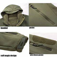 c60cbee5569 Webetop Softshell Jacket Men's Waterproof Hooded Tactical Military Combat  Outdoor Coat 5 Colours M-3XL: Amazon.co.uk: Sports & Outdoors