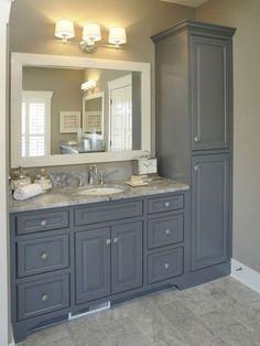 Awesome 85 Beautiful Farmhouse Bathroom Remodel Decor Ideas https://homearchite.com/2017/07/15/85-beautiful-farmhouse-bathroom-remodel-decor-ideas/