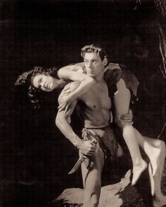 Tarzan and his Mate 1934 Johnny Weissmuller and Maureen O'Sullivan. Living it rough never looked so glamourous.