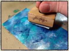 picture Technique with alcohol inks, by Tim Holtz. Awesome technique with very cool results