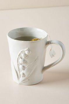 Anthropologie Katerina Mugs, Set of 4 Stoneware Mugs, Ceramic Mugs, Barn Kitchen, Painted Mugs, Side Plates, Mugs Set, Dinnerware, Tea Pots, Tableware