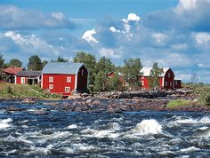Kukkola Rapids - The Tornio River Welcome To Sweden, Iceland Island, Lapland Finland, Lappland, Explore Travel, Barns, Salmon, Places To Go, Beautiful Places