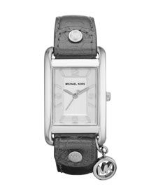 Michael Kors Rectangle-Case Charm Watch $120.00