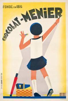 """* CHOCOLAT MENIER """"FONDÉ EN 1816"""".1931 Création des affiches Edia"""