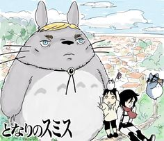 """My Neighbor Smith"" - Shingeki no Kyojin (Attack on Titan) X Totoro crossover - what even"