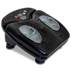 The Reflexology Foot Massager uses soothing infrared light and invigorating vibration to stimulate pressure points on the feet, melting away pain and soreness.
