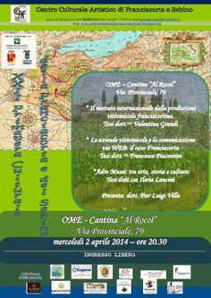"Iseo & Franciacorta News : OME 2.4.14 XXII Primavera Culturale cantina ""Al Ro..."
