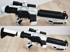 F-11D blaster rifle as used by the First Order Stormtroopers. May use these instead of E-11 blasters.