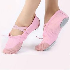 Dance Shoes Lady Gymnastics Latin Shoes Durable Slippers Pointe Dance Breathable