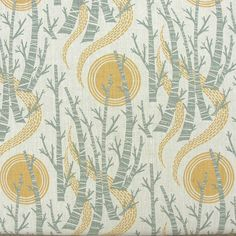 100% Linen print designed by Angie Lewin