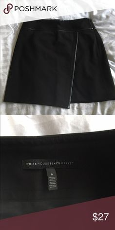 White House black market skirt Worn once for an interview. Blazer to go with if interested   Left side slit White House Black Market Skirts Pencil