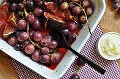 Roasted figs with lemon cream Roasted Figs, Kitchen Stories, Lemon Cream, Fruit, Blog, Lemon Custard, The Fruit, Blogging
