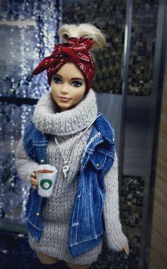 Sewing Barbie Clothes, Barbie Dolls Diy, Barbie Fashionista Dolls, Barbie Model, Barbie Toys, Barbie Life, Barbie Dress, Vintage Barbie Clothes, Ropa American Girl