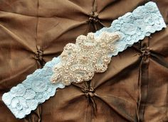 Wedding Garter Bridal Garter  Blue Lace Garter by Avenue22Bridal, $14.00