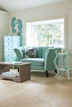 This color in a beachy neutral nursery would work for a boy or girl. We are looking to recover a glider and ottoman set to get a much nice fabric than is standard.