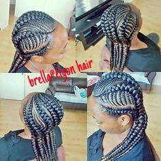 Feed in braids/ghana braids