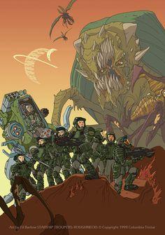 Starship troopers: Roughnecks by filbarlow Star Troopers, Starship Troopers, Starcraft Zerg, Aliens Colonial Marines, Non Plus Ultra, Tv Themes, Alien Vs Predator, Pop Culture Art, Science Fiction Art