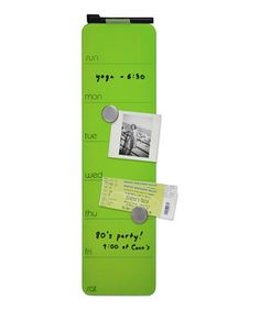 Look what I found on #zulily! Three by Three Seattle Spring Green Magnetic Glass Dry-Erase Weekly Planner by Three by Three Seattle #zulilyfinds