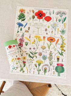 Cavallini Papers & Co: Wunderschönes Vintage-Puzzle Puzzle, Papers Co, Quilts, Blanket, Vintage, Products, Wildflowers, Puzzles, Quilt Sets