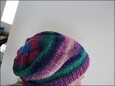 Knitting Patterns Galore - Easy Slouchy Hand-Knit Hipster Hat
