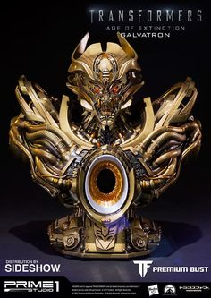 Prime 1 Galvatron Gold Version Transformers: Age of Extinction - Bust