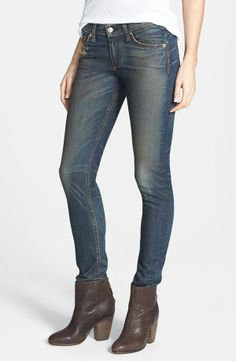 On our wish list - dark wash jeans with faded detail | rag & bone