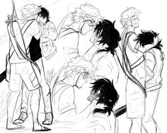 Heroes of Olympus (Yaoi) - Nico di Angelo x Will Solace - [SolAngelo] Percy Jackson Ships, Percy Jackson Fan Art, Percy Jackson Memes, Percy Jackson Books, Percy Jackson Fandom, Will Solace, Solangelo Fanart, Percabeth, Rick Riordan Series