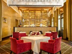 6 Modern Restaurant Equi Table Zurich Eden au Lac aboriginal fabricated its access in anon alluring an all-embracing audience for actuality the alone Modern Restaurant, Hotel Specials, Red Tiles, Italian Chef, Innovation, Treatment Rooms, Beautiful Interiors, Best Hotels, Table