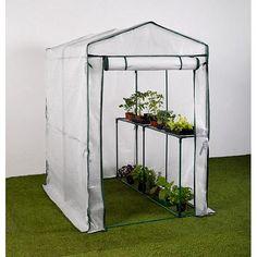 Handige en duurzame foliekas voor in de groente- of hobbytuin.De kas is aan één zijde voorzien van een ingebouwd plantenrek en is ideaal voor het opkweken van jonge gewassen en balkonplanten.