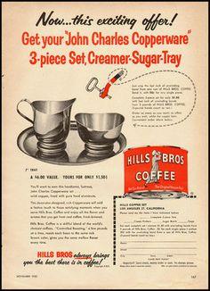 Vintage Hills Bros. Coffee Ad