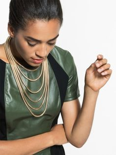 Layer on this Snake Chain Strands Necklace from BaubleBar