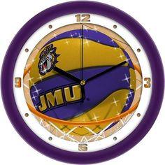 James Madison Dukes Basketball Wall Clock