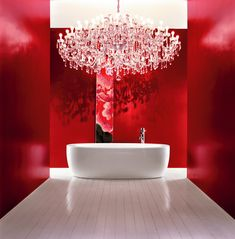 Red and White Bathroom Design To Sensuous Experience, Ilbagnoalessi by Laufen - Home Design Inspiration