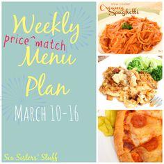 Weekly Menu Plan March 10-16