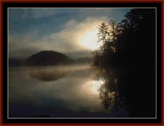 Cross Stitch Collectibles - Detail1 - TB-27 - Reflections - All cross stitch patterns - Earth as Art - Nature - Photograph - Cross Stitch Collectibles