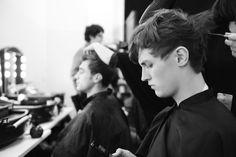 Backstage #fashionshow #models #gettingready #canali #canali1934 #mfw #fw14