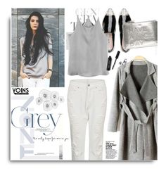"""""""Grey!! with Yoins.com"""" by hamaly ❤ liked on Polyvore featuring Cyan Design, Miu Miu, Anya Hindmarch, Bobbi Brown Cosmetics, MustHave, fall2015 and yoins"""