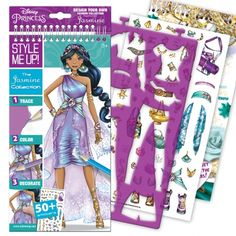 Style Me Up Disney's Jasmine Sketchbook kits let you draw and decorate with princess themed stickers to reveal the sketch artist in you.