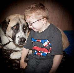 Read this wonderful story about a boy with a rare condition who's best friend is his three legged dog named Hattchi. You can see the love in this photo. Wonderful story of love and friendship.