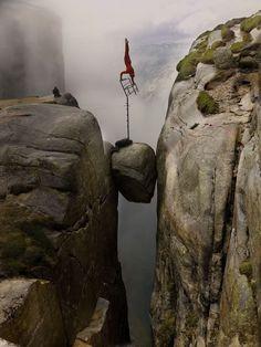 30 Year Old Norwegian, Eskil Ronningsbakken, High Cliff Dare Devil Stuntman