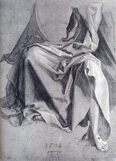 Albrecht Dürer - Drapery, study (1508)