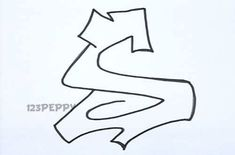 How to draw Graffiti Letters Step by step video...one for each letter...cool!